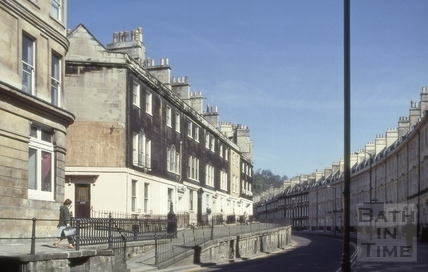 Paragon (Paragon Buildings) and Vineyards, Bath 1981