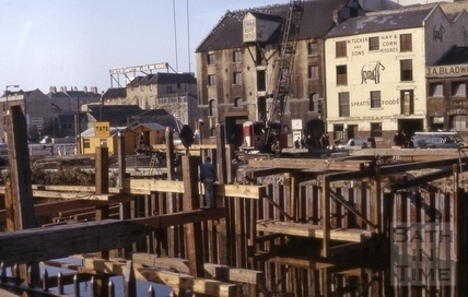 Piles for Churchill Bridge and Broad Quay, Bath 1964