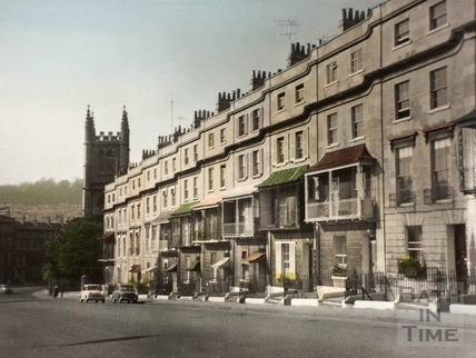 Raby Place, Bathwick Hill, Bath 1962