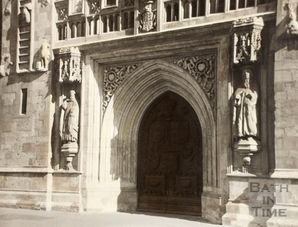 The West Door, Bath Abbey, Bath 1961