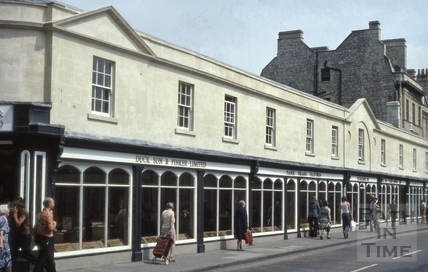 North side of Pulteney Bridge, Bath 1976