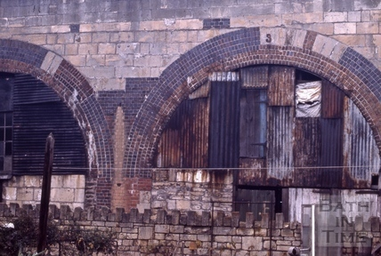 Detail of Railway Arches, Dolemeads, Bath 1966