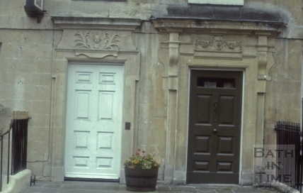 Doorways 11 & 12, Queen Square, Bath 1985