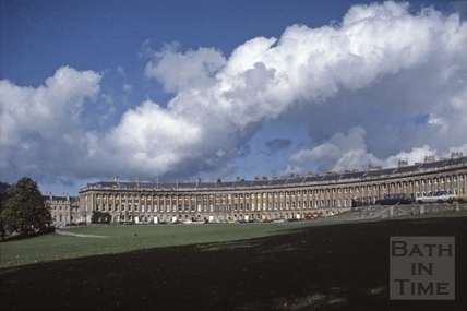 Royal Crescent with dramatic sky, Bath 1982