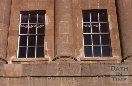 Restored windows of 1, Royal Crescent, Bath 1972