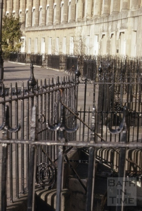 Railings, Royal Crescent, Bath 1968