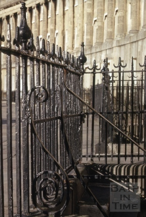 Royal Crescent railings 1968