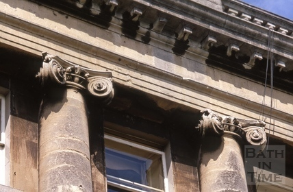 Eroded Ionic capitals of Royal Crescent 1969