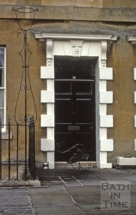 Somerset Place door with lampholder 1969