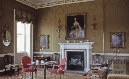 No.1 Royal Crescent: interior: second slide of drawing room as first arranged 1972