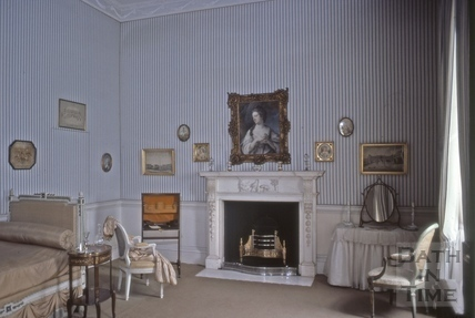 No.1 Royal Crescent: interior: bedroom with genuine French antique bed 1977