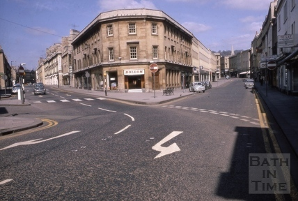 Southgate Street on the right, and St James Parade on the left. 1967