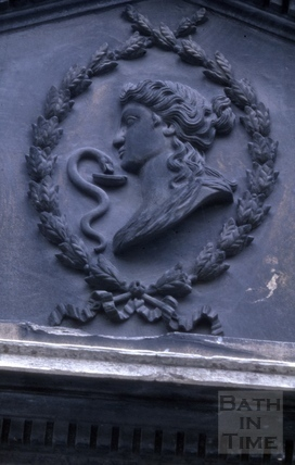 Stall Street carving in pediment 1966