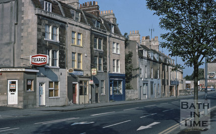 Upper Bristol Road, St Georges Place from east, Bath 1975
