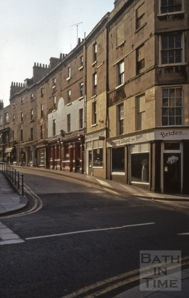 Upper Borough Walls north side from High Street 1974
