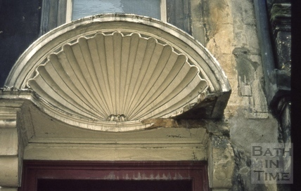 Trim Bridge and Street shell-headed porch damaged 1973