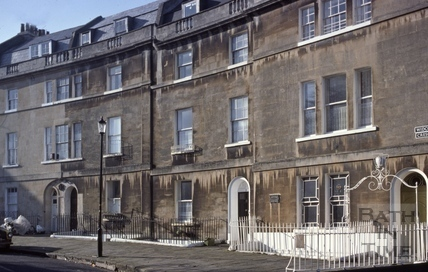 Widcombe Crescent from north 1981