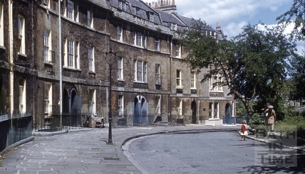 Widcombe Crescent from south 1958