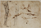 Two studies of a leg (verso)