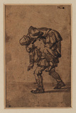 Man carrying another on his shoulders