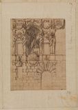Design for the facade of a palace