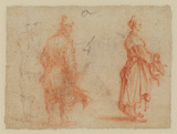 Study of a man and a woman (verso)