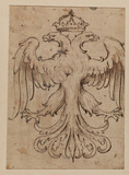Design for a double headed eagle (verso)