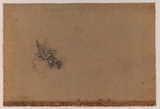 Putto seated on a cloud (verso)