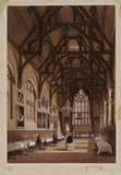 Interior of dining (?) hall at Wadham College, Oxford