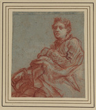 Young man seated