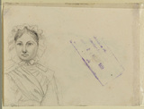 Portrait of a young lady (verso)