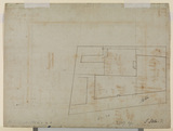 Part of an architectural ground plan (verso)