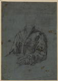 Study for a male seated portrait (recto)