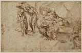 Saint Jerome in a landscape (verso)