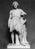 Thorvaldsen Leaning on the Statue of Hope