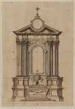 Front elevation of an altar