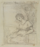 Study for the portrait of the Hon. Anne Damer (Collection C. Johnston)