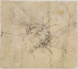 Christ Child with ornamental crown with rays (verso) (in a later hand)