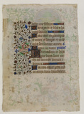 Illuminated manuscript (verso)