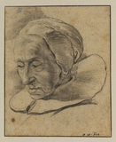 Head of an elderly woman (recto)