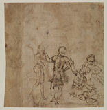Four male figures (verso)