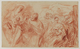 Sheet of studies after old masters