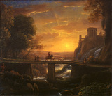 Landscape with an imaginary view of Tivoli