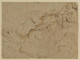 Studies of male figures & female centaurs (verso)