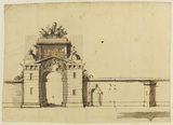 Design for a gateway at Blenheim Palace (recto)