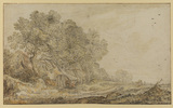 Landscape with cottages and figures