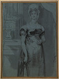 Three-quarter length portrait of a lady