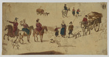 Studies of riders and other figures (recto)
