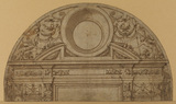 Design for the decoration of a lunette