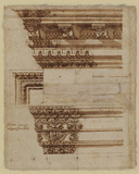 Study of three entablatures (verso)